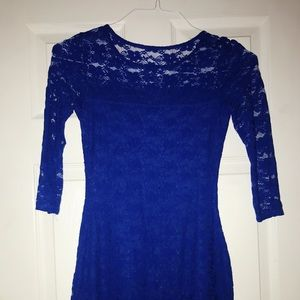 💧 ROYAL BLUE FITTED DRESS 💧
